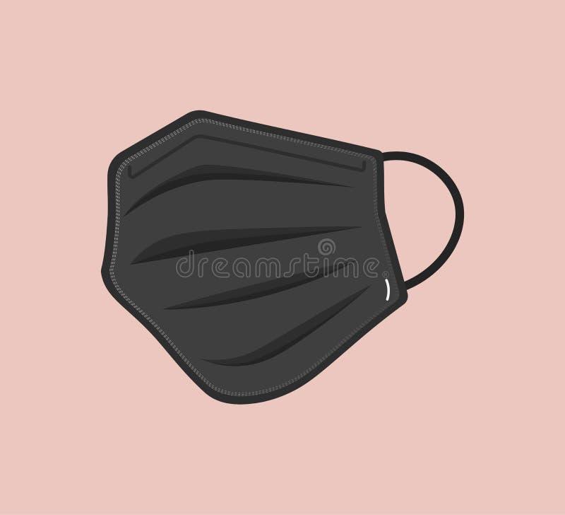 Free Breathing Medical Respiratory Mask. Hospital Or Pollution Protect Face Masking. Corona Mask. Covid-19 Vector Protective Mask Desig Royalty Free Stock Photo - 187700515