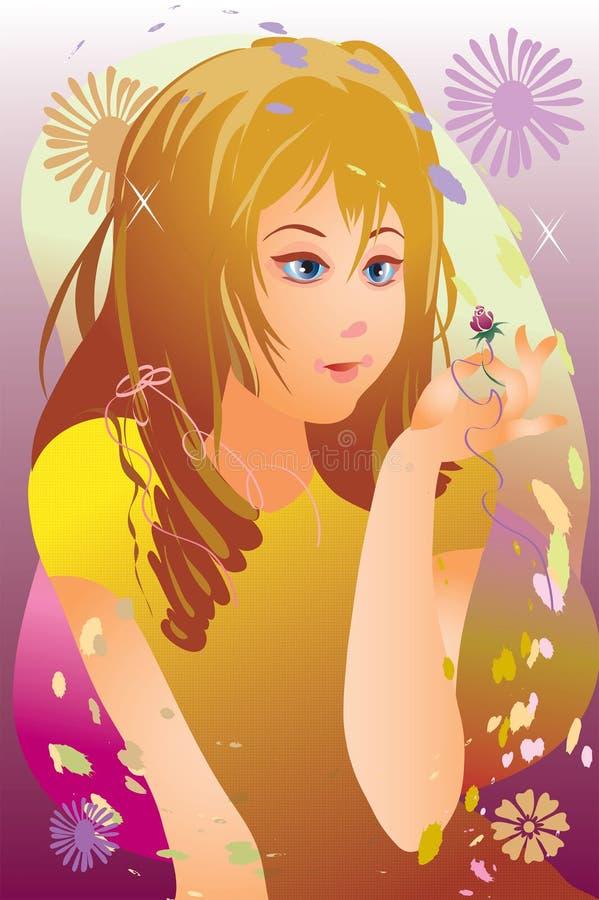 Breathing of summer royalty free illustration