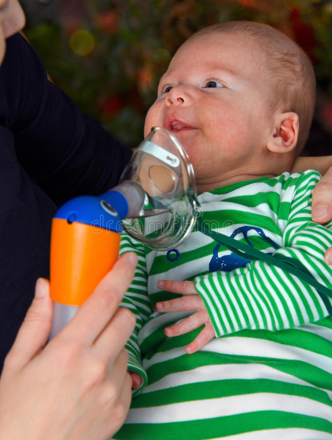 Breathing Treatment royalty free stock photography