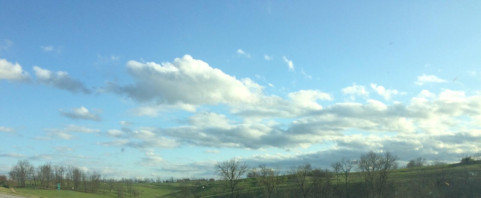 Beautiful blue skies royalty free stock images