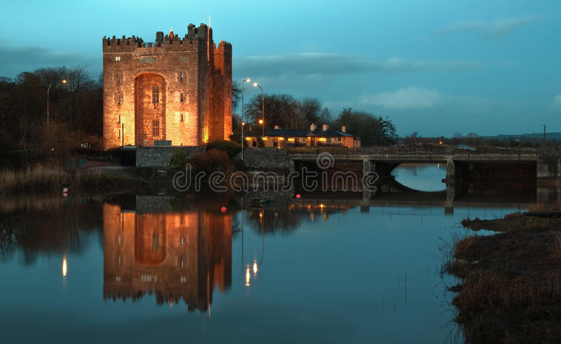 Download Breathtaking Bunratty Castle Ireland At Night Stock Photo - Image: 12612538