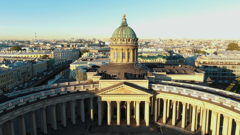 Breathtaking Kazan Cathedral building with huge columns stock image