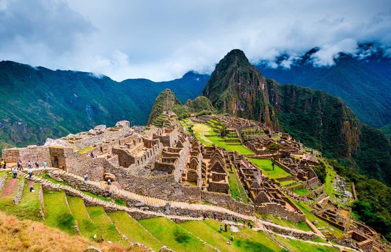 Breathtaking krajobraz antyczny majestatyczny Machupicchu miasto fotografia stock