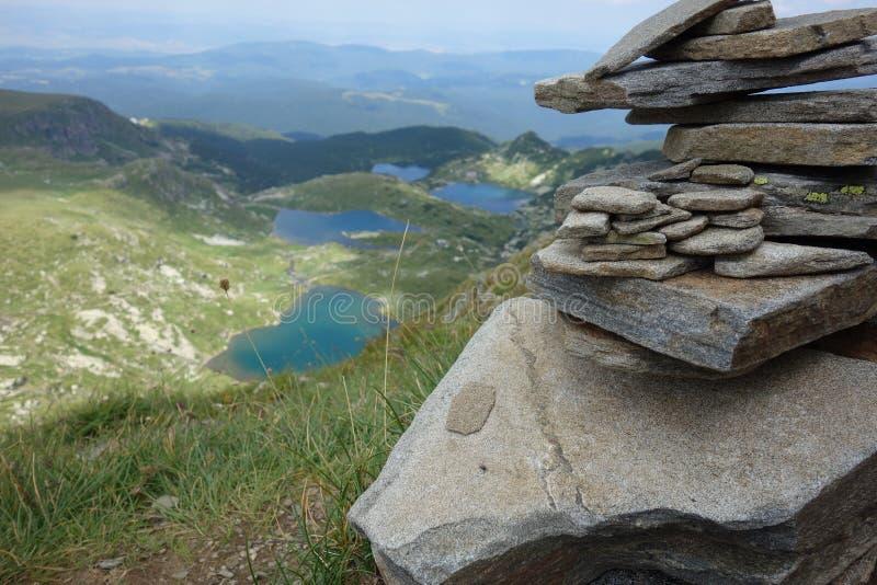 Seven Rila lakes. Breathtaking Rila lakes stock image