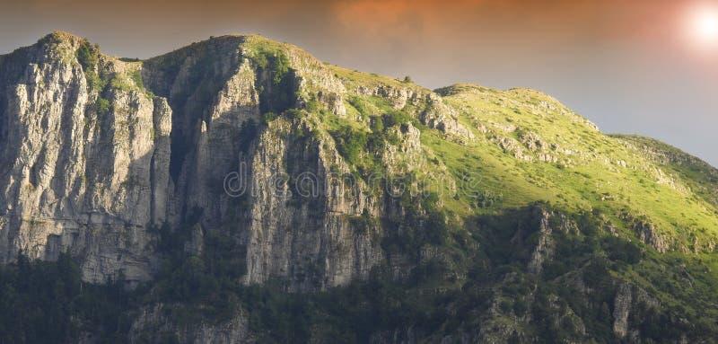 A breathtaking sunrise at Mountain Tymfi in Epirus Greece royalty free stock image