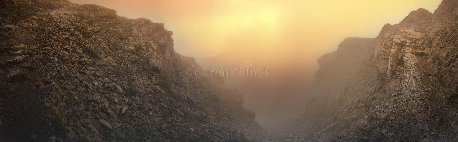 Magnificent sunset at the mythical Mount Olympus in Greece royalty free stock photography