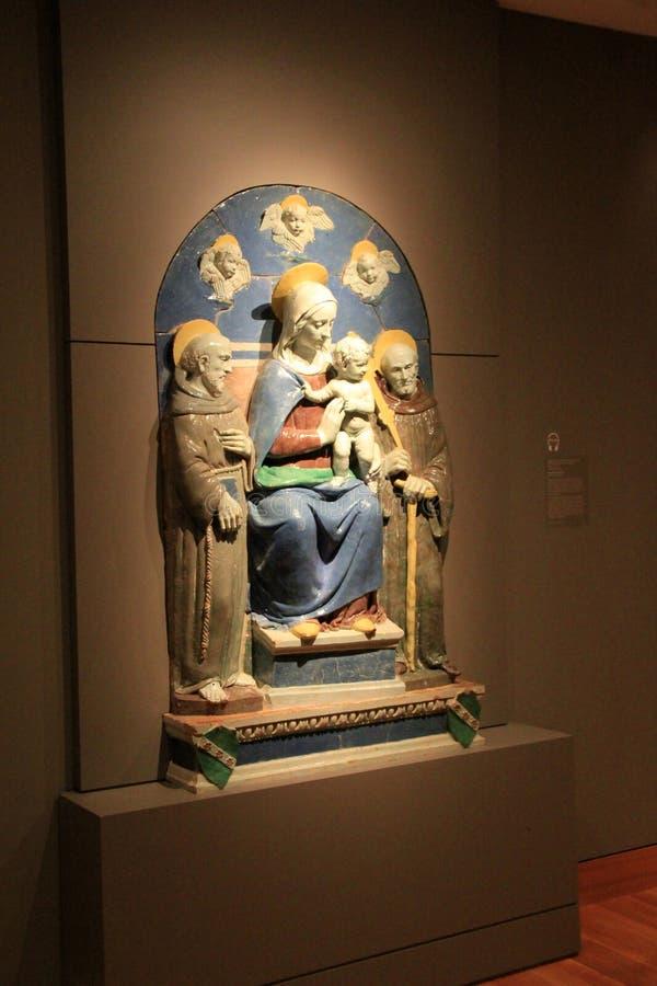 Breathtaking szczegół opierający się na religijnej opowieści emocjonalna rzeźba, Cleveland muzeum sztuki, Ohio, 2016 zdjęcia stock