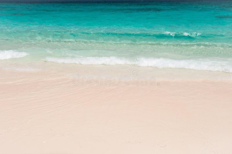 Breathtaking turkusowy morze, egzot plaża obraz royalty free