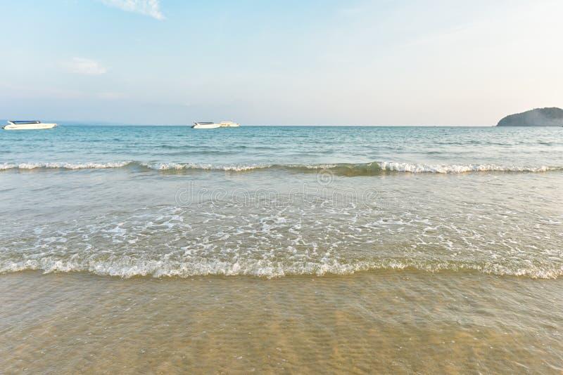 Breathtaking turkusowy morze, egzot plaża zdjęcia stock
