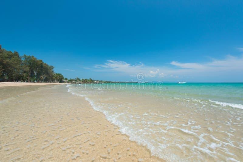 Breathtaking turkusowy morze, egzot plaża fotografia stock