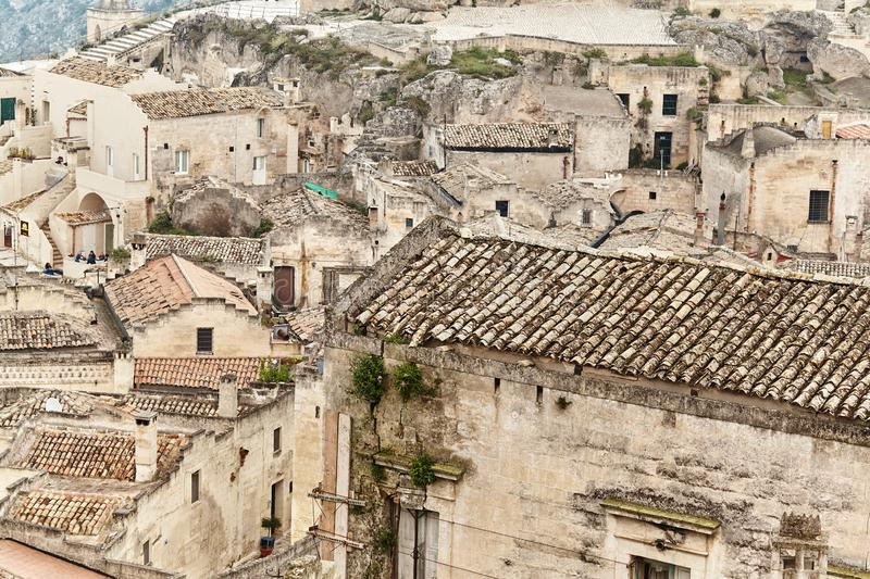 Breathtaking view of the ancient town of Matera, southern Italy. royalty free stock photos