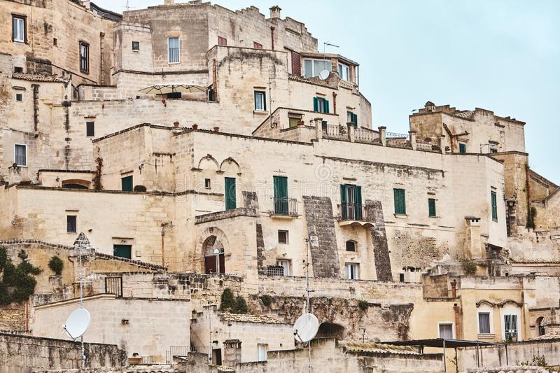 Breathtaking view of the ancient town of Matera, southern Italy. stock photo