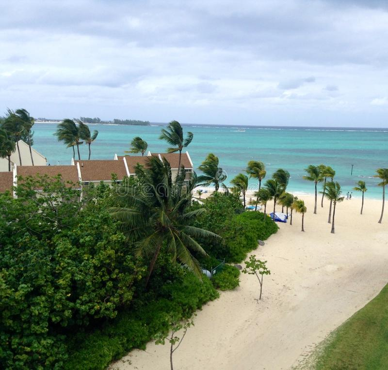 The breathtaking view from room in Nassau Bahamas stock photos