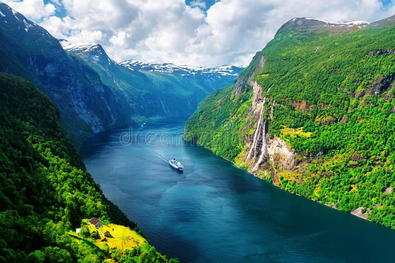 Download Breathtaking View Of Sunnylvsfjorden Fjord Stock Image - Image of beautiful, mountain: 108836021