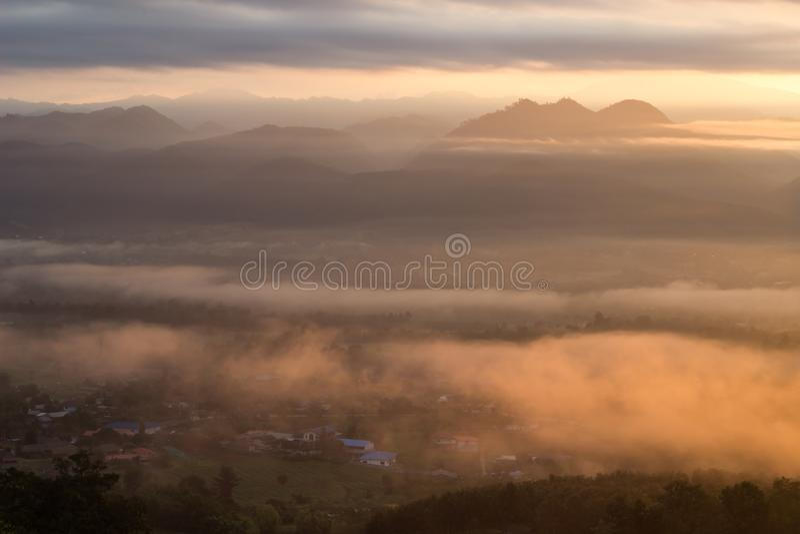 Breathtaking Views in the morning at Yun Lai viewpoint,Pai,Mae Hong Son,Northern Thailand. royalty free stock photos