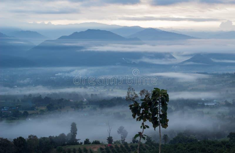 Breathtaking Views in the morning at Yun Lai viewpoint,Pai,Mae Hong Son,Northern Thailand. royalty free stock photo