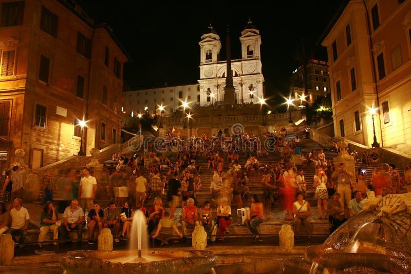 Breathtaking widok hiszpańszczyzna kroki przy nocą fotografia royalty free