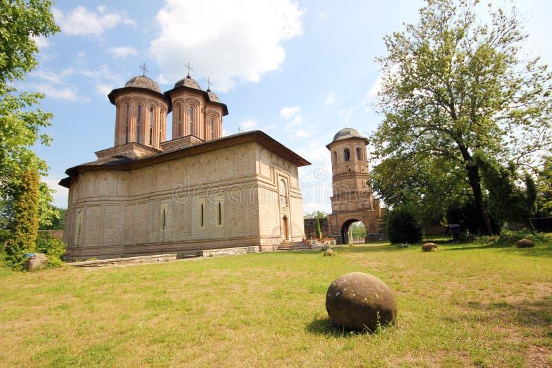 Brebu修道院-罗马尼亚 库存图片