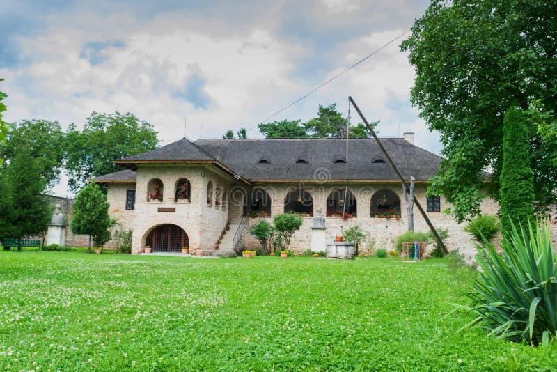 Brebu, Prahova, Ρουμανία - 04 Αυγούστου 2019: Το κτίριο του Βασιλικού Μουσείου του μοναστηριού του Μπρεμπού στο Μπρεμπού, στοκ εικόνα με δικαίωμα ελεύθερης χρήσης