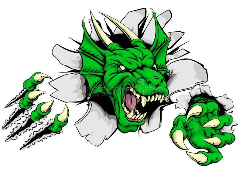 Brecha de la garra del dragón ilustración del vector