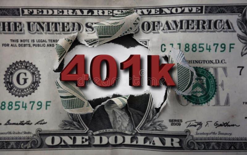 brecha del dólar 401k foto de archivo