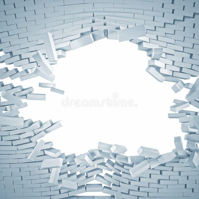 Brechen der Wand vektor abbildung