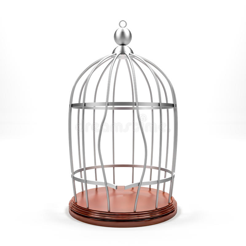 Brechen des Käfigs stock abbildung