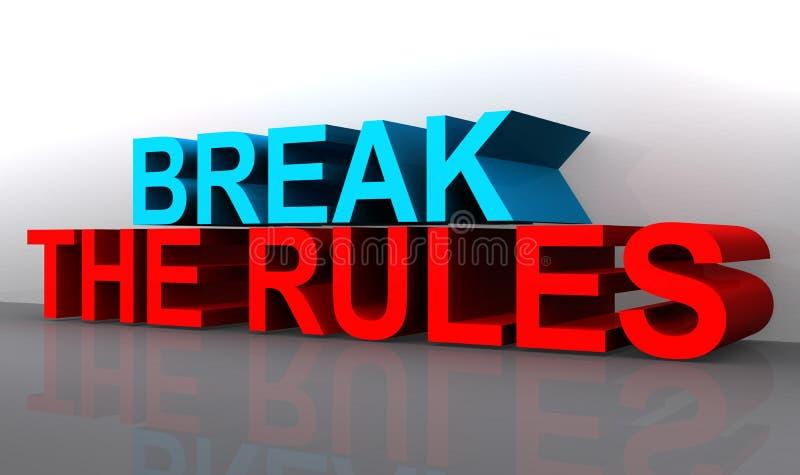 Brechen Sie das Regel-Zeichen lizenzfreie abbildung