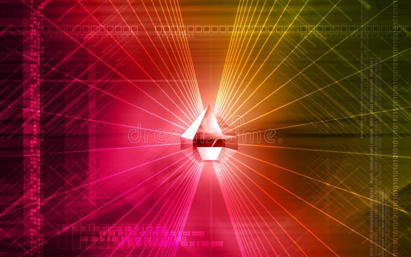 Brechung in einem Diamanten vektor abbildung