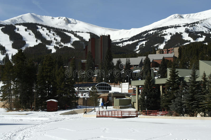 breckenridge手段滑雪 免版税库存图片