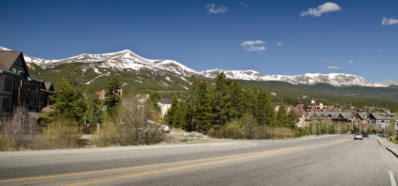 breckenridge手段滑雪 库存照片