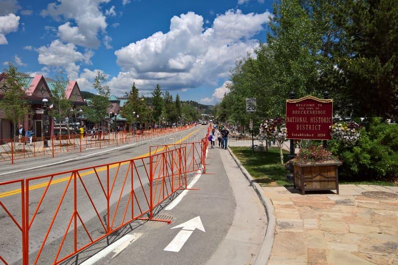 Downtown Breckenridge, Colorado - 4th of July stock photos