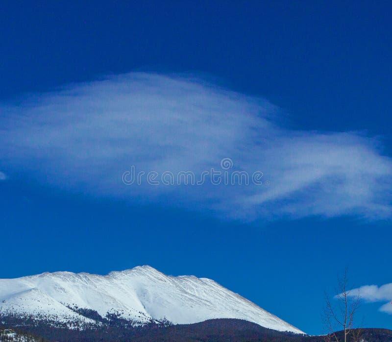 Breckenridge Colorado bergskedjamoln arkivfoton