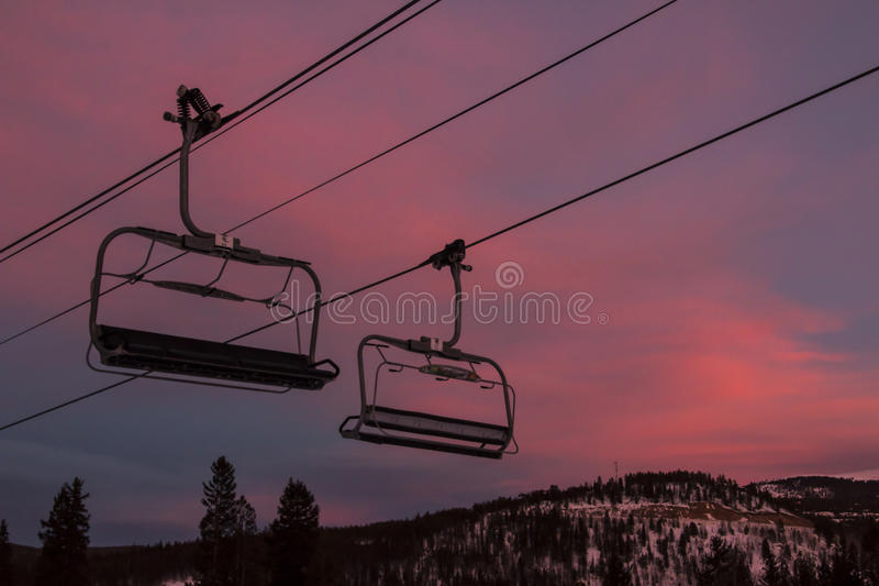 Breckenridge Ski Resort. Is an alpine ski resort in the western United States, in Breckenridge, Colorado. Just west of the Continental Divide in Summit County royalty free stock image