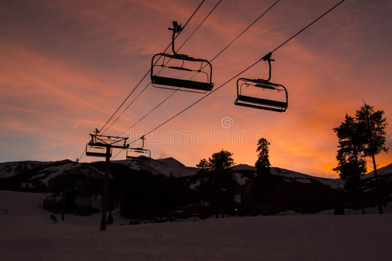 Breckenridge Ski Resort. Is an alpine ski resort in the western United States, in Breckenridge, Colorado. Just west of the Continental Divide in Summit County royalty free stock photography