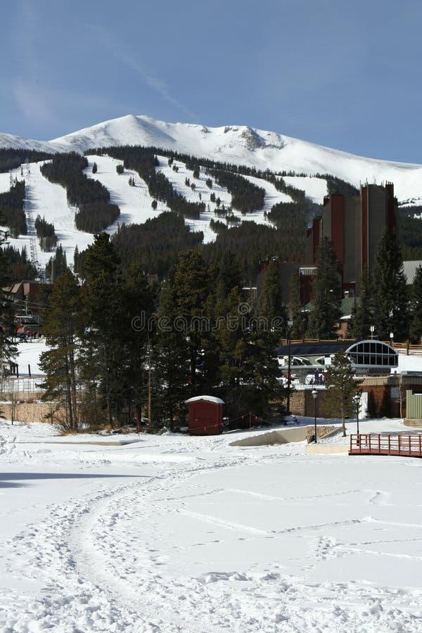 Breckenridge-Skiort lizenzfreie stockfotografie