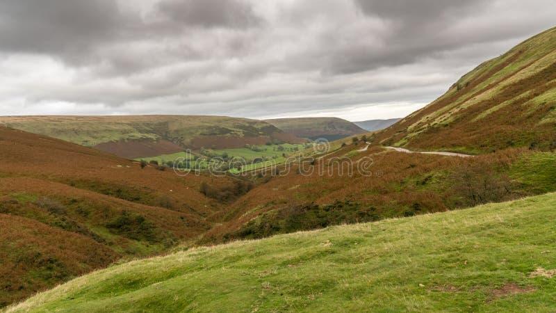 Brecon erleuchtet Ansicht vom Evangelium-Durchlauf, Powys, Wales, Großbritannien lizenzfreie stockbilder