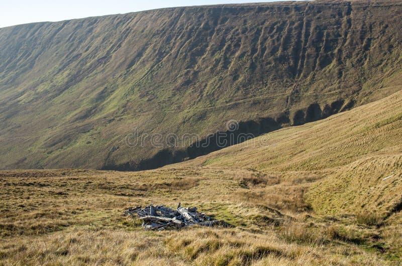 Brecon ilumina montanhas deixou de funcionar o plano 2019 fotos de stock royalty free