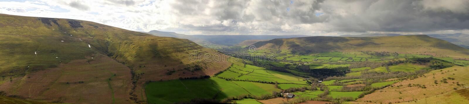 Download Brecon Panoramic stock photo. Image of hillside, lush - 24460520