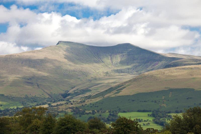 Brecon señala con almenara el parque nacional País de Gales Reino Unido fotografía de archivo libre de regalías