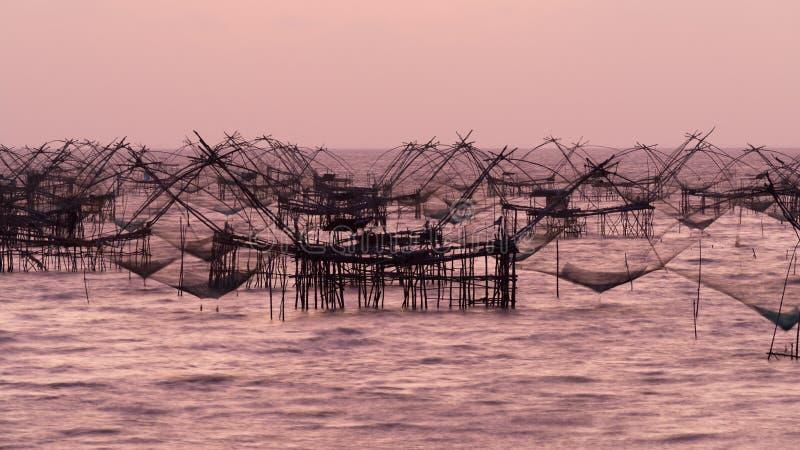 Bred flodmynningfiskerier arkivfoton