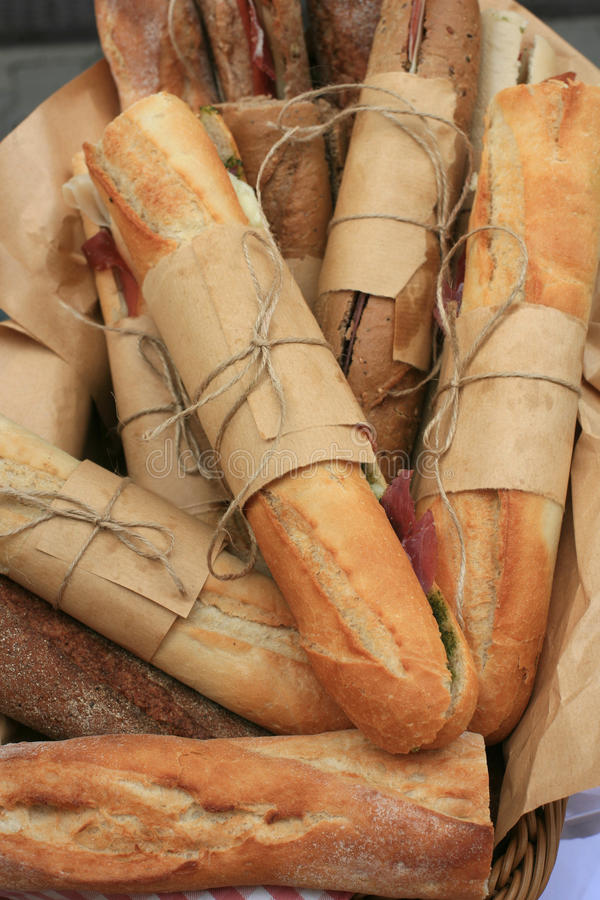 Free Bred Frenc Roll Sandwiches Royalty Free Stock Image - 58771376