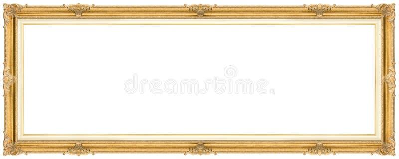 Bred guld- ram royaltyfri foto