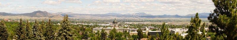 Bred panorama- huvudkupol Helena Montana State Building arkivfoto