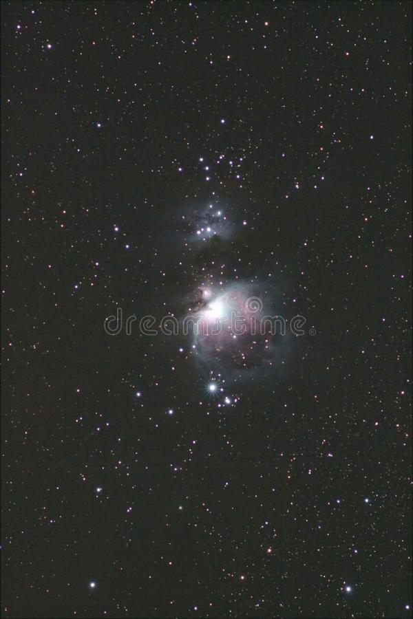 Bred sikt för Orion nebulosa royaltyfria bilder