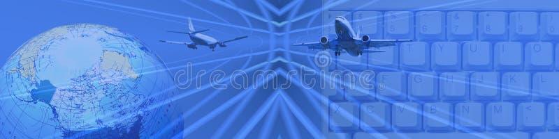 bred värld för affärsconnectivityinternet vektor illustrationer