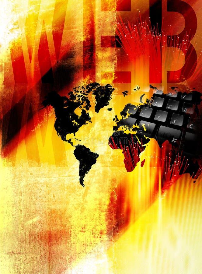 bred värld för begreppsrengöringsduk stock illustrationer