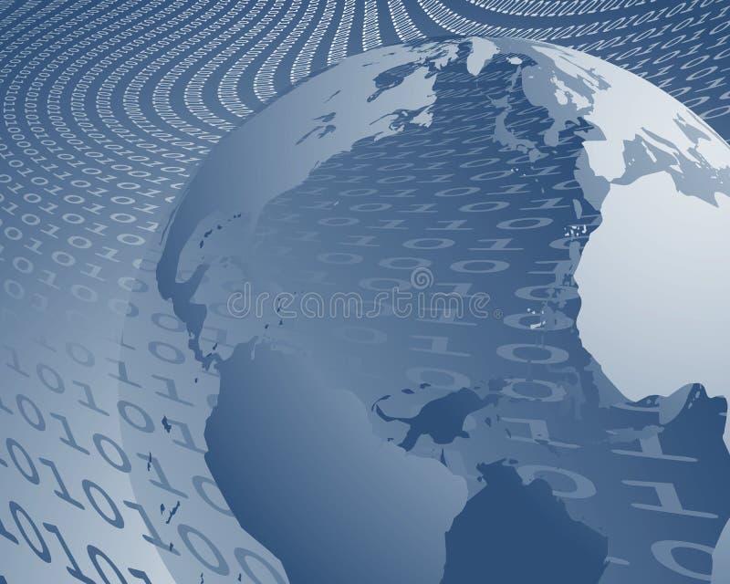 bred värld för dataöverföring vektor illustrationer