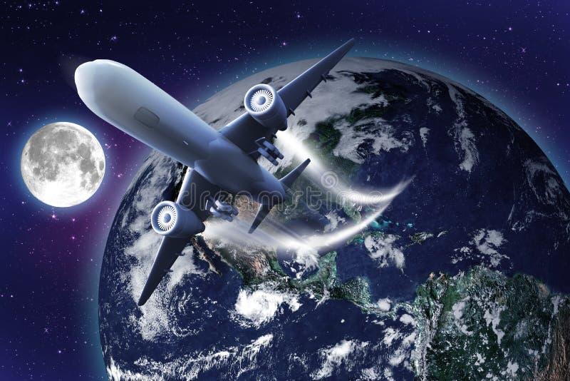 bred värld för luftväg stock illustrationer