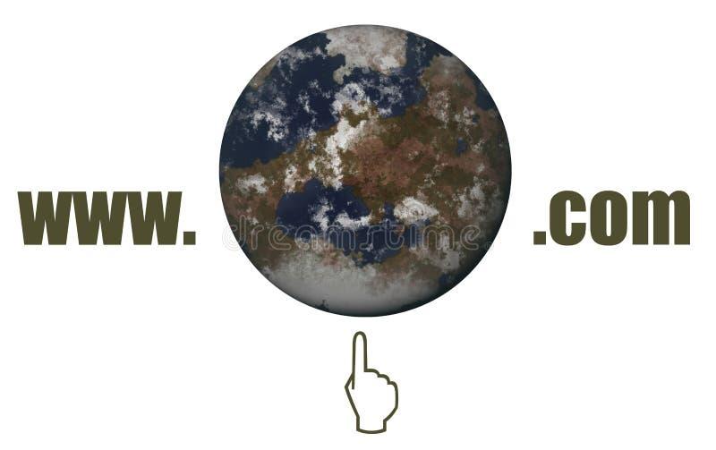 bred värld för rengöringsduk royaltyfri illustrationer